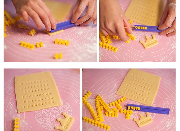 Alphabet letter and number biscuit stamp set picture