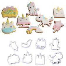 Unicorn cookie/fondant cutter set 8pc picture