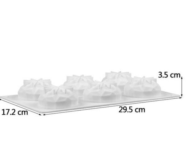 Silicone geode dome mould mini 6 cavity picture