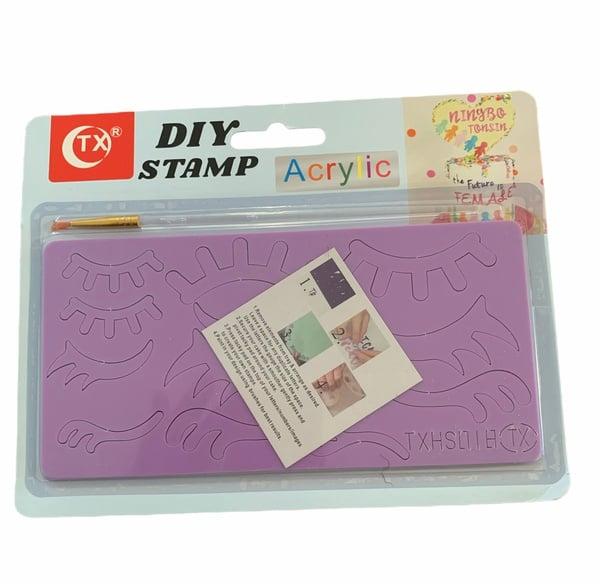 Diy cake stamp -eye lashes picture