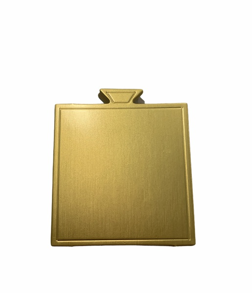 Square cake boards 100 pack gold 7,2x7,2cm picture