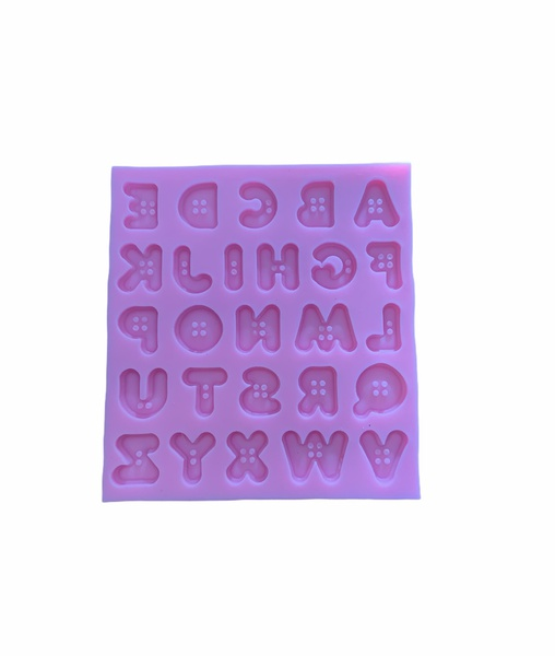 Silicone upper case button alphabet mould picture