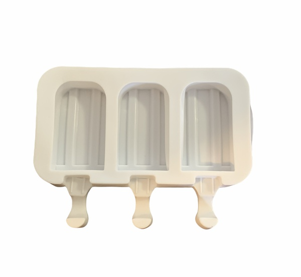 Ice cream silicone mould with indent 3 cavity picture