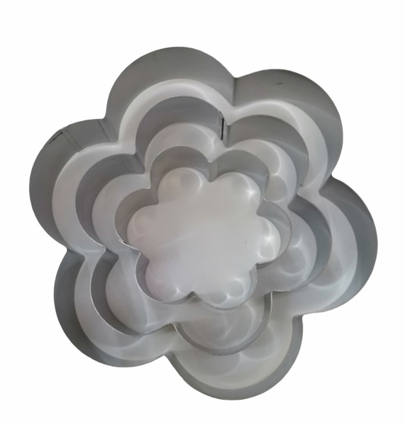 Flower cake mould 3pc stainless steel picture