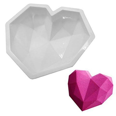 Silicone geode heart mould large picture