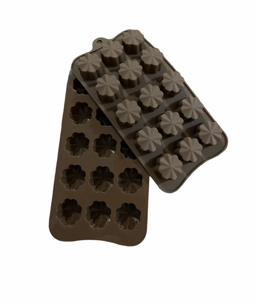 Chocolate flower silicone mould 15 cavity picture