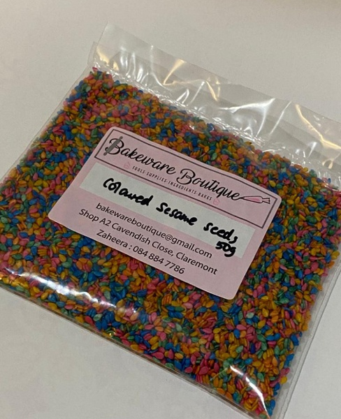 Coloured sesame seeds 50g picture