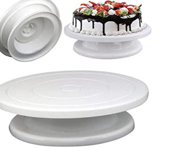 28cm cake decorating turntable plastic picture