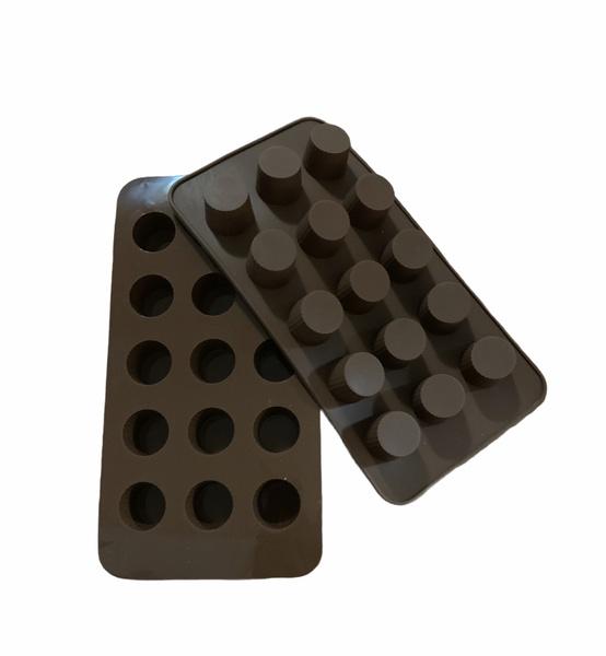 Chocolate mini truffle silicone mould 15 cavity picture