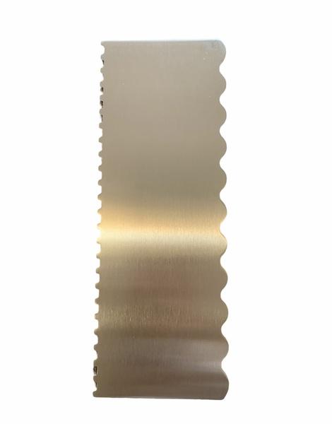 22cm metal patterned cake scraper picture