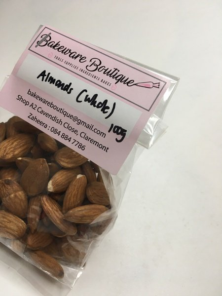 Whole raw almonds 100g picture