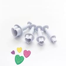 Heart plunger cutter set 4pc picture