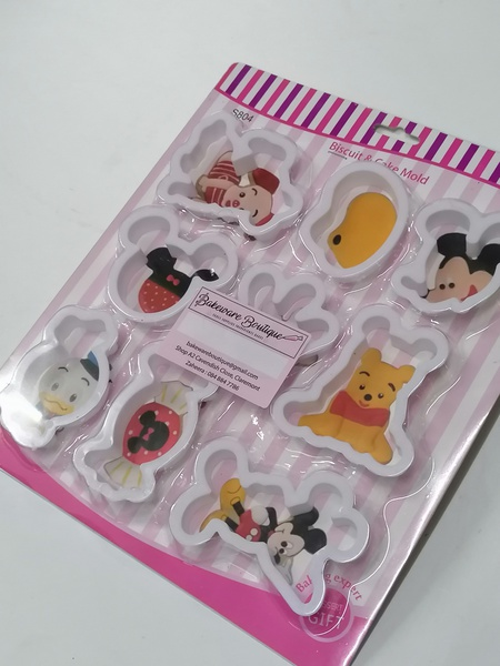 Disney junior themed cookie cutters 9pc picture