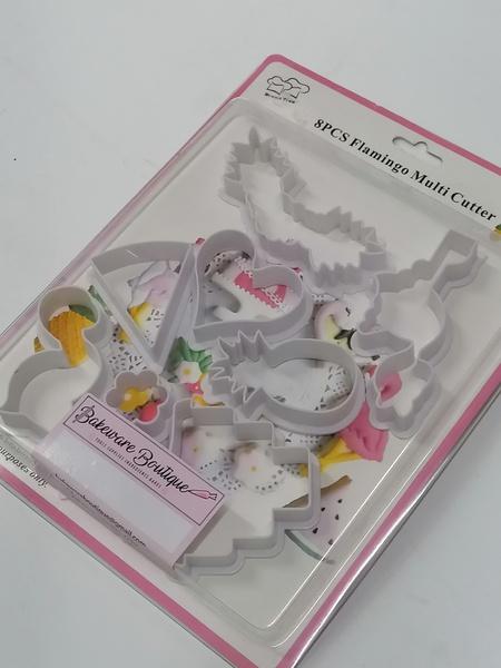 Flamingo cookie/fondant cutter set 8pc picture