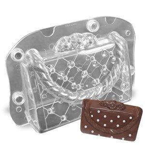 Acrylic handbag chocolate mould picture