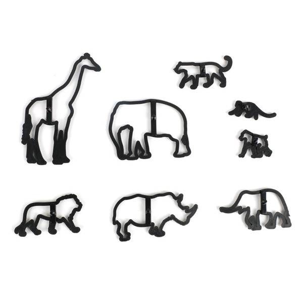 Safari silhouette cutter set 7pc picture