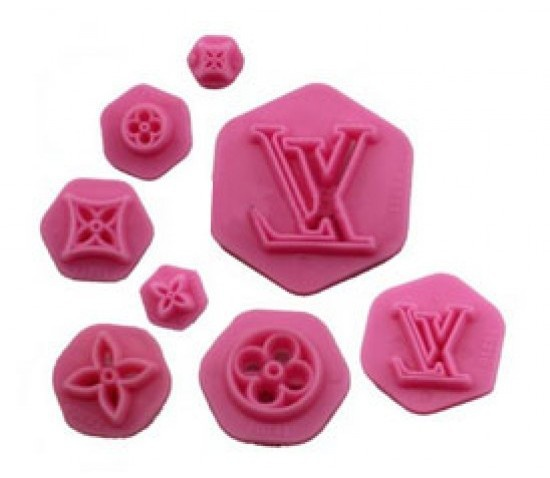 Louis vuitton cake stamp mould 8pc picture