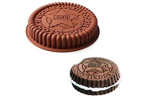 Oreo cookie silicone mould 19cm picture