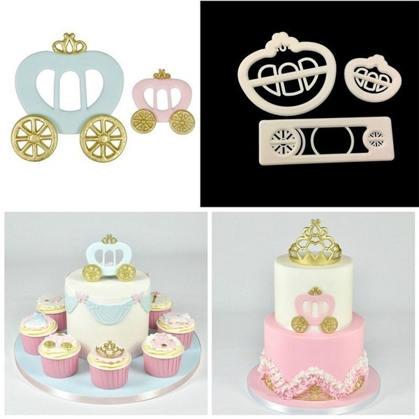 Princess & carriage cutter set 3pc picture