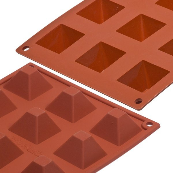 Pyramid silicone mould 12 cavity picture