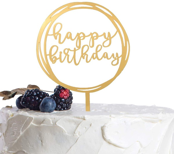 Happy birthday cake topper a-3069 picture
