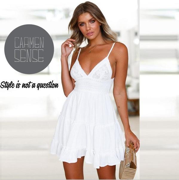 Kayla  bohemian white dress picture