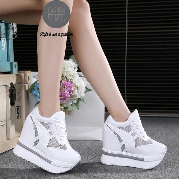Velocity platform sneakers - white and silver picture