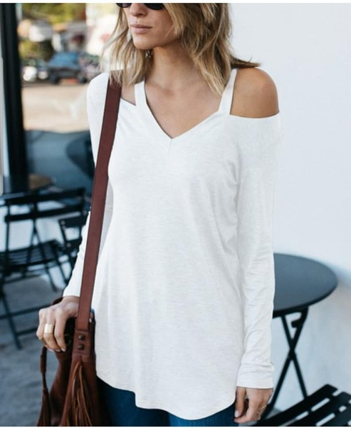 White off shoulder blouse picture