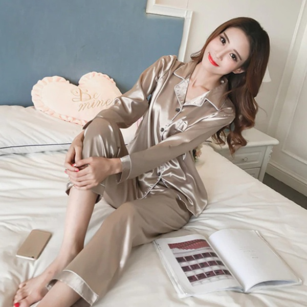 Sassy - champagne gold pajama set picture