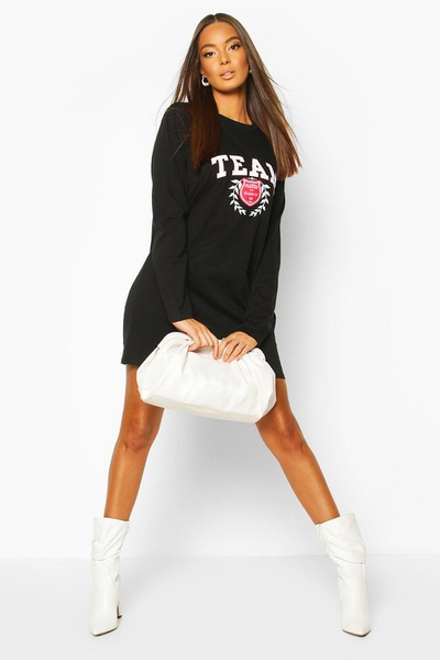 T logo shirt dress picture