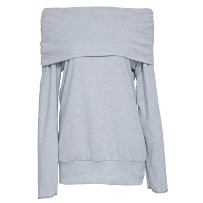 Grey cowl neck top picture