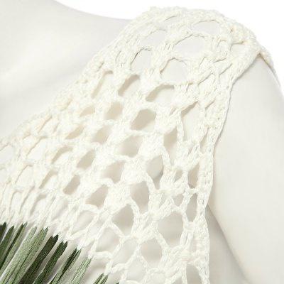 Linda - bohemian crochet blouse vest, bohemian crochet rose top picture