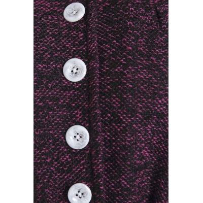 Darlene vintage plaid dress with belt - burgundy deep purple picture