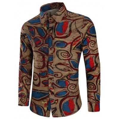Geo pattern men shirt picture