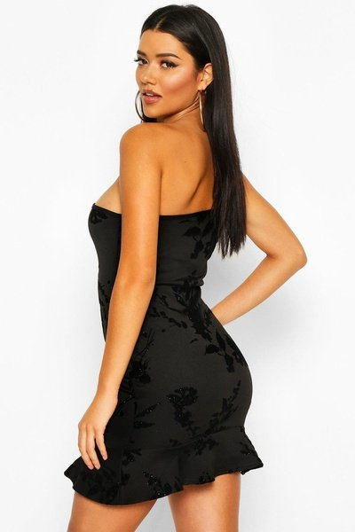Velvet ivy one shoulder dress picture