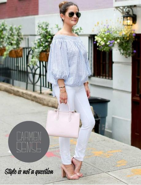 Trisha - plus size stripe blouse picture