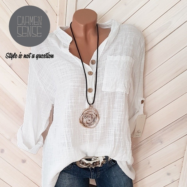 Miza button blouse picture