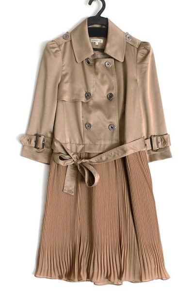 Ameline - champagne gold coat dress picture