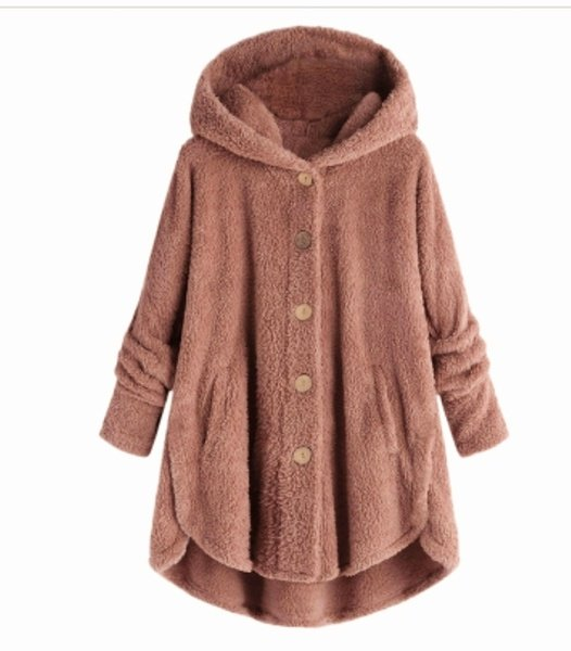 Teddy fleece hooded coats picture
