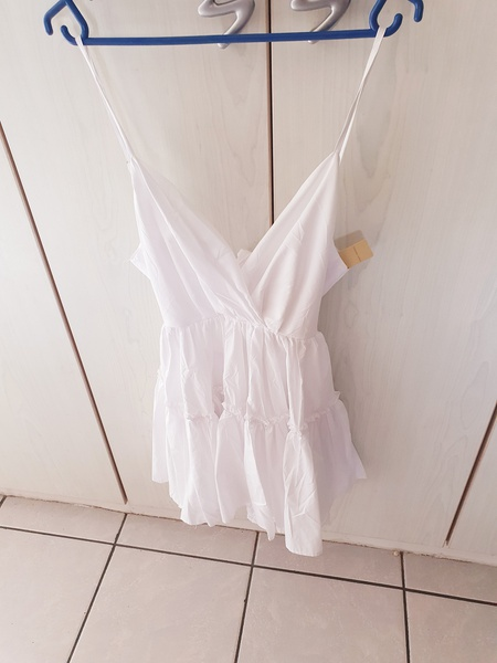 Sally white flair dress picture