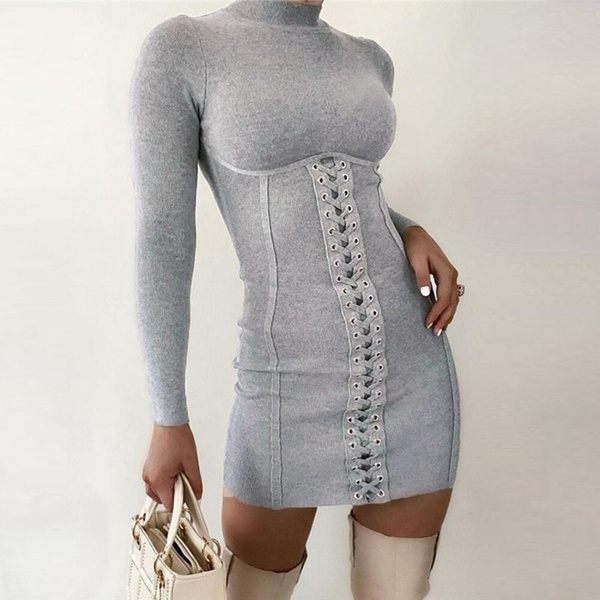 Jace knitted bodycon dress picture