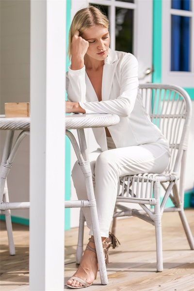 Cathrine -  white 2 piece suit picture