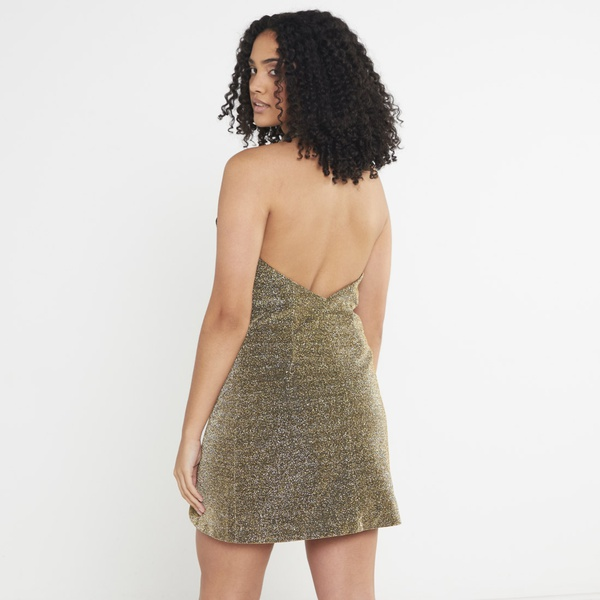 Holly mini dress - gold bronze picture