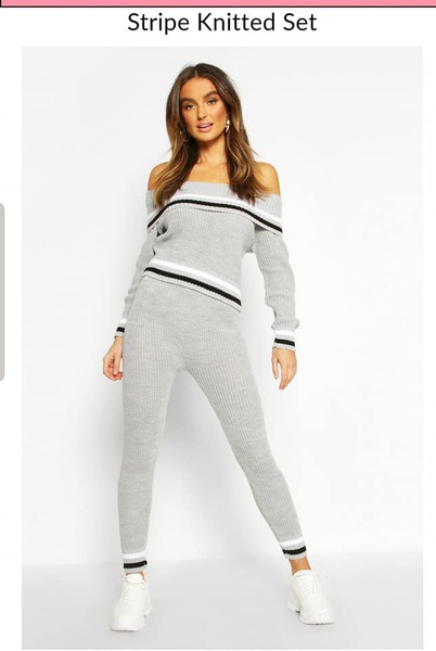 Calista tracksuits - knitted off shoulder picture