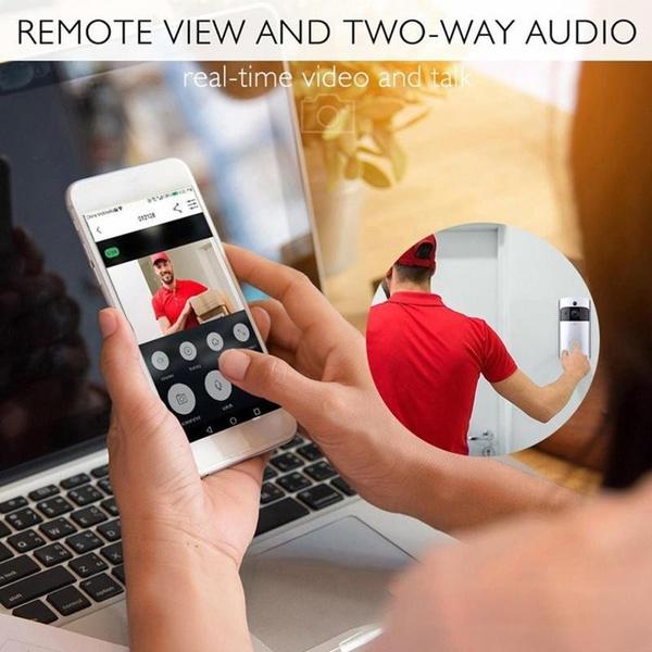 Wifi monitoring sensor doorbell camera picture