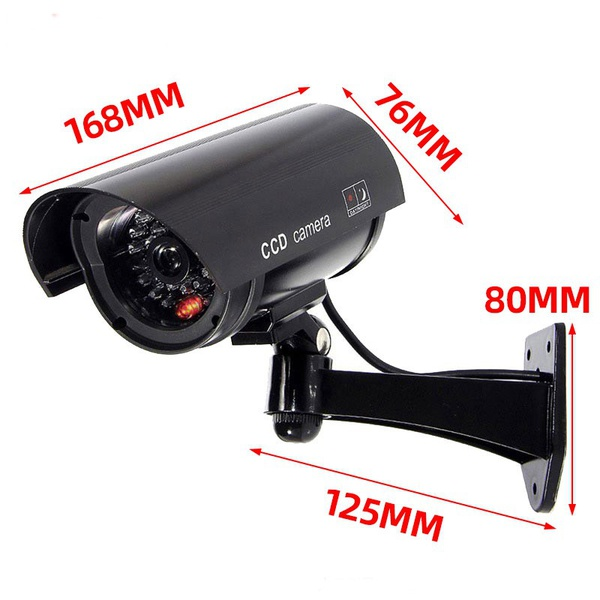 Solar power camera cctv realistic dummy security cam - led light picture