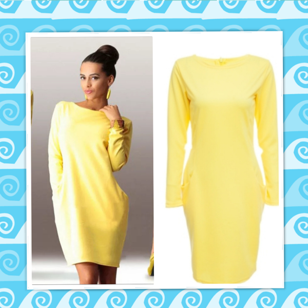 Mae - yellow pocket dress picture