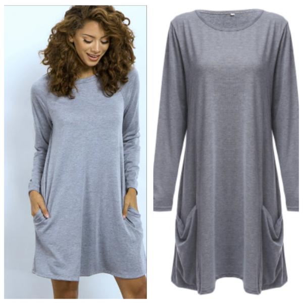 Millie-  grey pocket dress picture