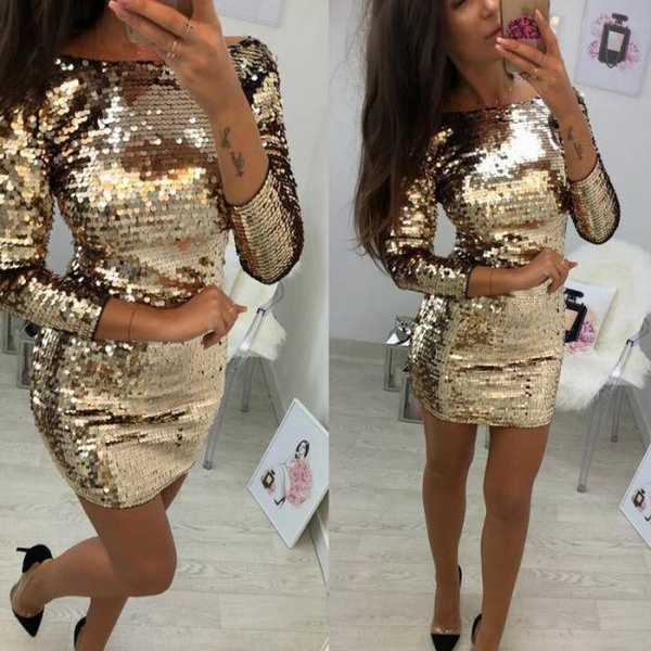 Gold glamour dress picture
