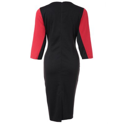 Ruby - black and red pencil dress picture